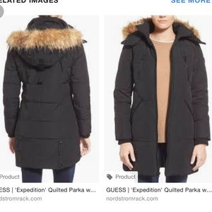 Guess expedition parka size large brand new
